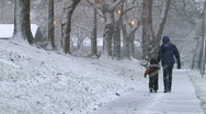 Stock Video Footage of Mom and Child in Snow 1 of 3