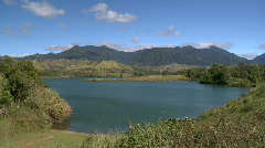 Mountain lake with mountain in the background Stock Footage