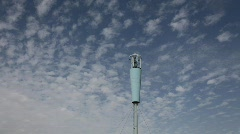 Antena under clouds, time lapse - stock footage
