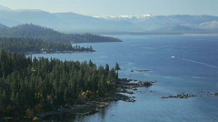 East and south Lake Tahoe Stock Footage