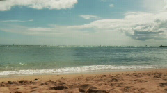 Sandy Beach in slow motion  - stock footage