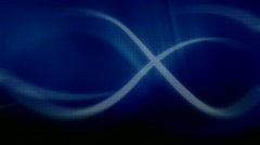 Loopable blue background flying lines Stock Footage