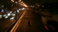 Highway near Moscow at Night, HD Stock Footage