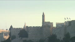 Stock Video Footage of Tower of David - Zoom out 1
