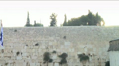 Western Wall - Touristic site 3 Stock Footage