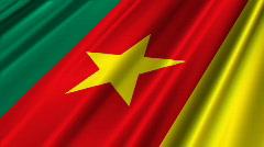 Cameroon Flag Loop 02 Stock Footage