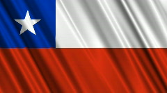 Chile Flag Loop 01 - stock footage