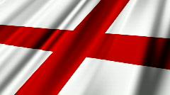 England Flag Loop 02 Stock Footage