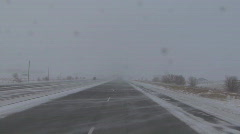 P00883 Winter Driving in Blizzard Stock Footage