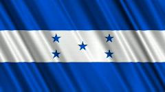Honduras Flag Loop 01 Stock Footage