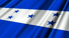 Honduras Flag Loop 02 Stock Footage