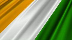 Ivory Coast Flag Loop 02 Stock Footage