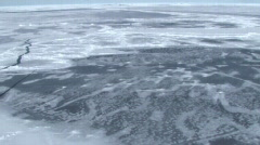 Aerial view of the sea ice on Antarctica Stock Footage