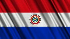 Paraguay Flag Loop 01 Stock Footage