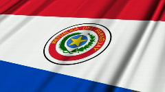 Paraguay Flag Loop 02 Stock Footage