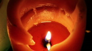 Orange Candle Stock Footage