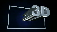 Chrome 3D on Blue Stock Footage