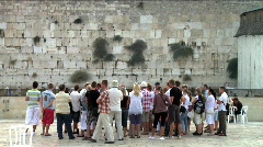Western Wall - Touristic site 2 Stock Footage