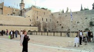 Stock Video Footage of Western Wall - Touristic Site