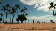 Volleyball in Beach Park - stock footage