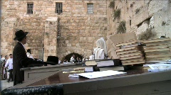 Western Wall - People Pray Stock Footage