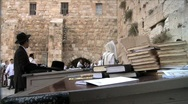 Stock Video Footage of Western Wall - People Pray