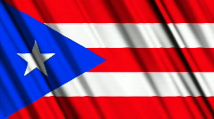 Puerto Rico Flag Loop 01 Stock Footage