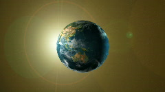 Earth Spinning Eclips - stock footage