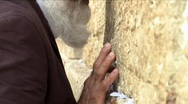 Stock Video Footage of Western wall - An old man praying