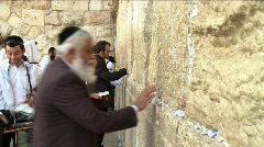 Western Wall - Believer pray 2 - stock footage