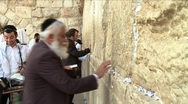 Stock Video Footage of Western Wall - Believer pray 2