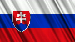 Slovakia Flag Loop 01 Stock Footage