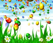 Easter eggs - very colourful - LOOP - PAL Stock Footage
