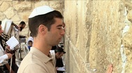 Stock Video Footage of Western Wall - Believer pray