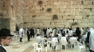 Stock Video Footage of Western Wall - Jerusalem - pan right 2