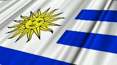 Uruguay Flag Loop 02 Stock Footage