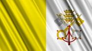 Vatican Flag Loop 01 Stock Footage