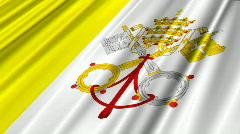 Vatican Flag Loop 02 Stock Footage