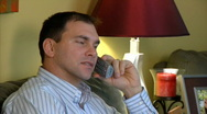 Stock Video Footage of Man on Telephone 1364