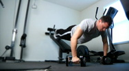 Home Gym 1379 Stock Footage
