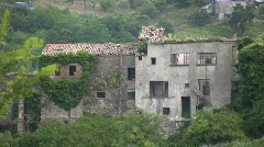 The old town of Tocco Caudio in Italy Stock Footage