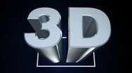 Stock Video Footage of 3D Center Screen on Blue