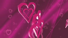 Hearts Looping Background Stock Footage