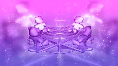 3d pink and purple teddy bears tvhd0105 Stock Footage