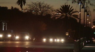Cars & Traffic At Night Stock Footage