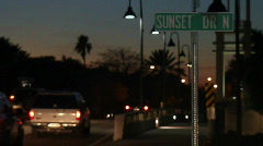 Sunset Drive North Street Sign Stock Footage