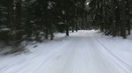 Winter road1 Stock Footage