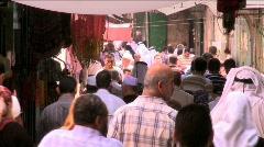 Streets of the muslim quarter - jerusalem Stock Footage