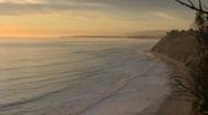 Sunset Ocean Cliffs Stock Footage