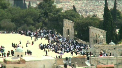 Temple Mount pan 3 Stock Footage